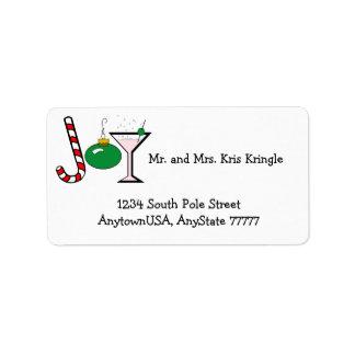 Green Joy Of Christmas Address Label