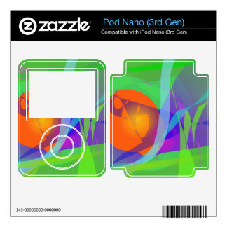 Green Joy iPod Nano 3G Decal