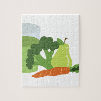 Green Juice Veggies Jigsaw Puzzle