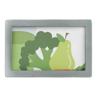 Green Juice Veggies Rectangular Belt Buckle