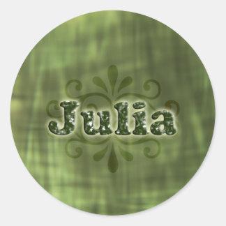 Green Julia Classic Round Sticker