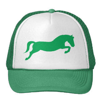 Green Jumping Pony Hats