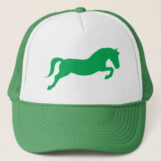 Green Jumping Pony Trucker Hat