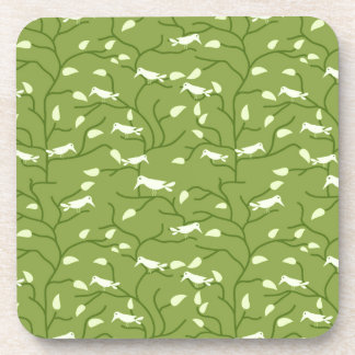 Green Jungle Birds Coaster