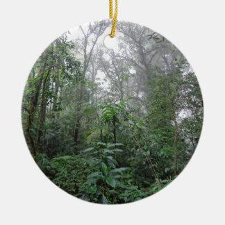 green jungle ceramic ornament