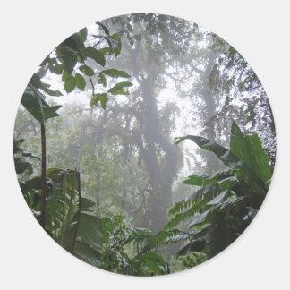 green jungle classic round sticker