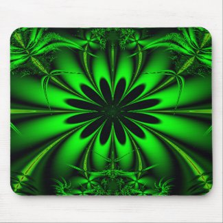 Green Jungle Mouse Pad