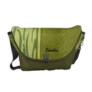 Green Jungle Stripe Customizable Rickshaw Bag Commuter Bag