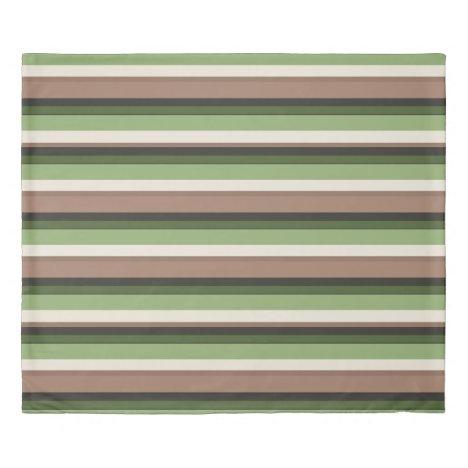Green jungle stripe Duvet Cover