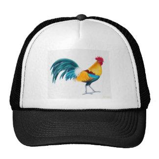 Green Junglefowl Rooster Trucker Hats
