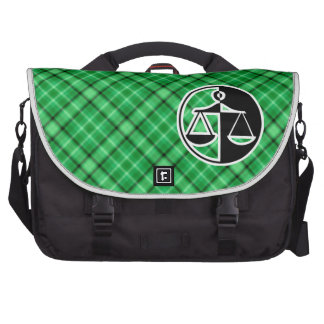 Green Justice Scales Laptop Messenger Bag