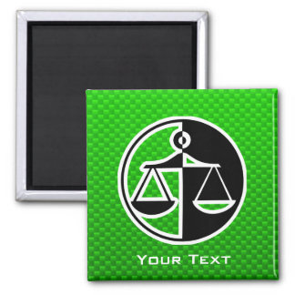 Green Justice Scales Magnets