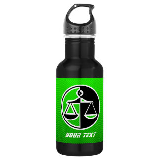 Green Justice Scales 18oz Water Bottle