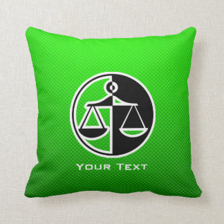 Green Justice Scales Pillows
