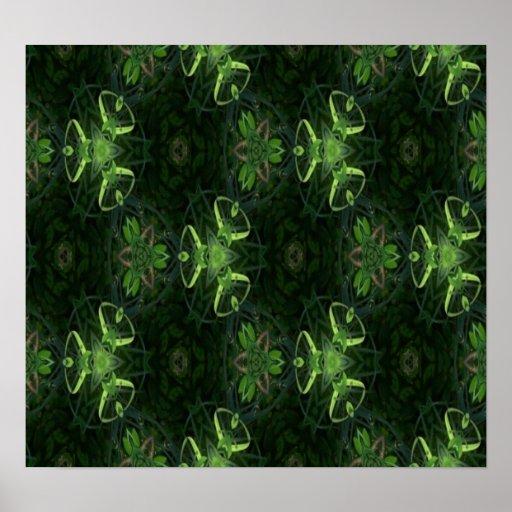 Green Kaleidoscope 1 Poster