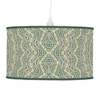 Green Kaleidoscope Ceiling Lamp