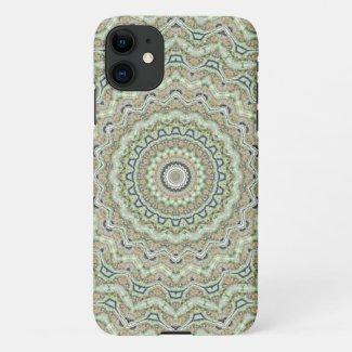 Green kaleidoscope iPhone 11 case