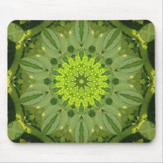 Green Kaleidoscope Mousepad