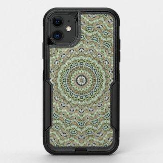 Green kaleidoscope OtterBox commuter iPhone 11 case