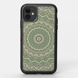 Green kaleidoscope OtterBox symmetry iPhone 11 case