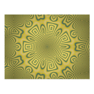 Green kaleidoscope postcard