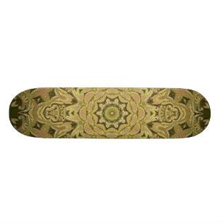 Green Kaleidoscope Skateboard Deck