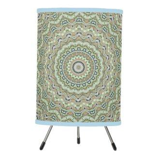 Green Kaleidoscope Tripod Lamp