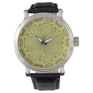Green kaleidoscope watch