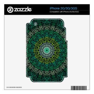 Green Kaleidoscope Zazzle Skin for IPhone 2G/3G