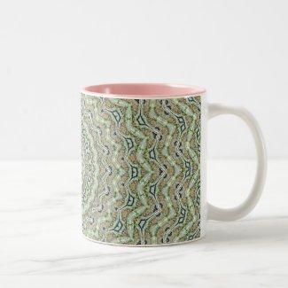 Green Kaleidoskop Two-Tone Coffee Mug