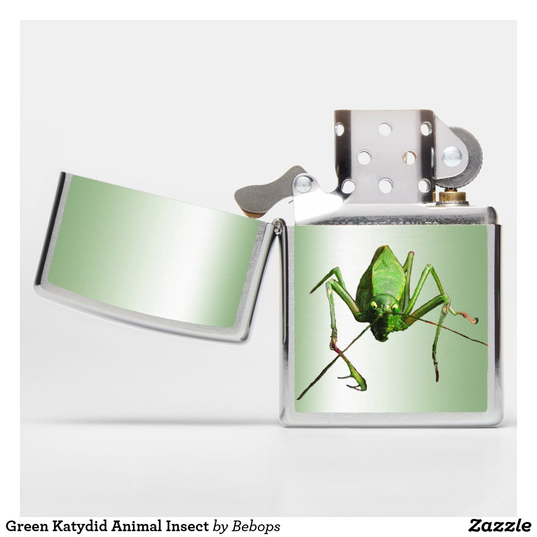 Green Katydid Animal Insect Zippo Lighter