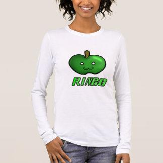 Green Kawaii Apple Long Sleeve T-Shirt