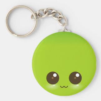 Green Kawaii Face Keychain