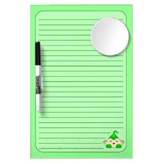 Green Kawaii Tickle Monster Dry-Erase Boards