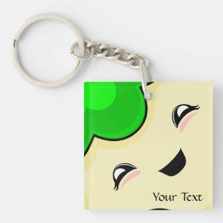 Green Kawaii Tickle Monster Acrylic Keychains
