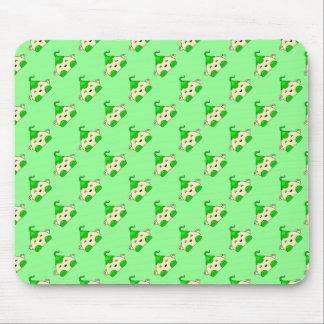 Green Kawaii Tickle Monster Mouse Pad