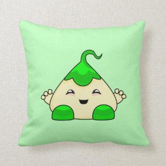 Green Kawaii Tickle Monster Pillow