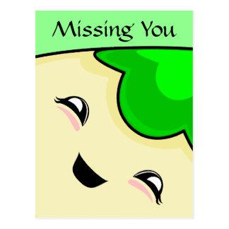 Green Kawaii Tickle Monster Post Card