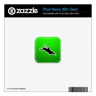 Green Kayaking Decal For The iPod Nano