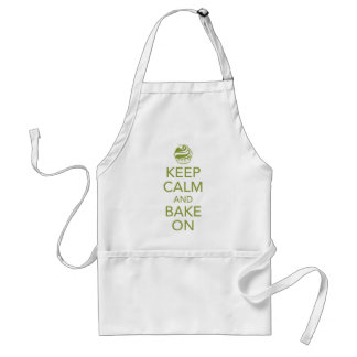Green Keep Calm and Bake On Apron