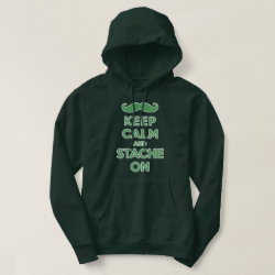 Men's Basic Hooded Sweatshirt with Keep Calm and Stach On design
