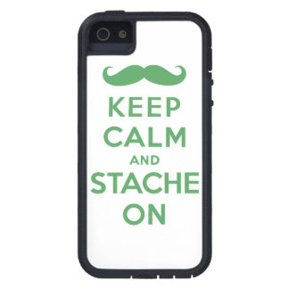 Green keep calm and stache on iPhone SE/5/5s case