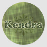 Green Kendra Classic Round Sticker