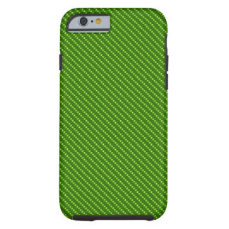 Green Kevlar Carbon Fiber Base Tough iPhone 6 Case