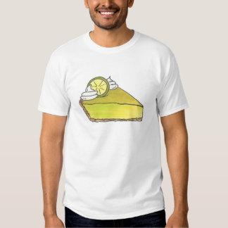 Green Keylime Key Lime Pie Slice Dessert Tee Shirt