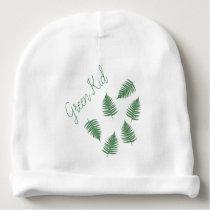 Green Kid Fern Pattern Toddler Beanie