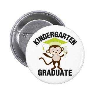 Green Kindergarten Graduate Pinback Button