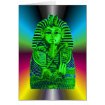 Green King Tut #2 Greeting Card