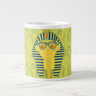 Green King Tut with Sunglasses Giant Coffee Mug