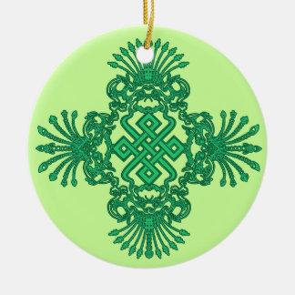Green Kirttmukha Ornament